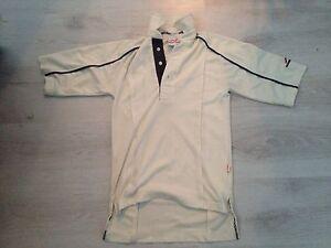 worn once Woodworm Polo Shirt Collared Golf cricket teen boys 12-14 mans cream