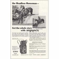 1946 Argoflex Argus: Headless Horseman Vintage Print Ad