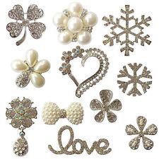 Luxury Diamante Pearl Embellishment Scrapbooking Cardmaking Wedding Card Craft A