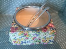 Large Midwinter Pottery Springtime Chintz salad bowl & salad serving utensils.