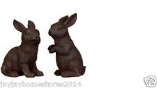 Woodland Heritage Collection ghisa effetto Conigli Da Giardino Decorazioni Da Giardino