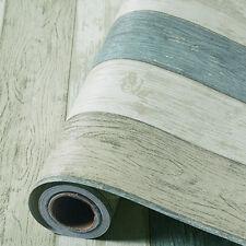 "Vintage Blue Wood Wallpaper Roll Vinyl Self Adhesive Contact Paper Bedroom 118"""