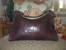 Milleni brown leather large tote shopper casual work shoulder bag purse #316