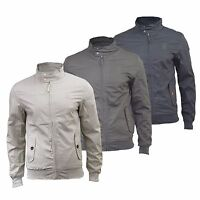 Mens Harrington Jacket Crosshatch Haronz Vintage Retro Summer Jacket Coat