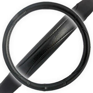 Black Performance Leather Grip Steering Wheel Cover Protector Skin Wrap Standard