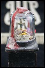 † 19th TRUE CROSS DNJC COLUMN of FLAGELLATION RELIQUARY WOOD BASE WAX SEALED †