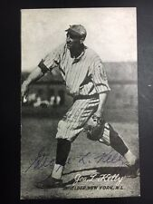 George L. Kelly HOFer NY Giants Signed 1973 TCMA Postcard JSA-precertified