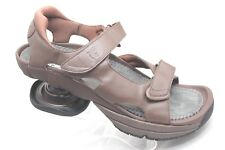 Z-Coil LEGEND Mens Size 13 Brown Leather Coil Comfort Walking Sandals Shoes