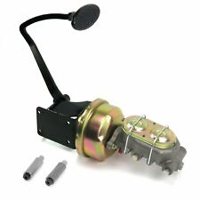 47-54 Chevy Truck 8 Single Brake Pedal kit Drum/DrumLg Oval Blk Pad cylinder