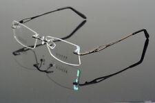 Memory Titanium Gunmetal Eyeglass Frame Rimless optic Glasses Spectacles Rx able
