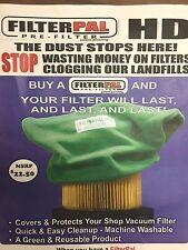 (1) FilterPal HD Green air filter cover shop vac Pre-Filter
