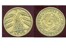 ALLEMAGNE 5  reichspfennig  1925 J