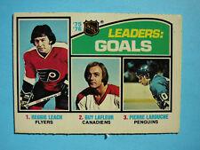 1976/77 O-PEE-CHEE NHL HOCKEY CARD #1 GUY LAFLEUR REGGIE LEACH EX/NM SHARP!! OPC