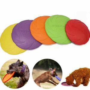 Silicone Dog Frisbee Training Toy Throwing Disc Fetch  UK Toys