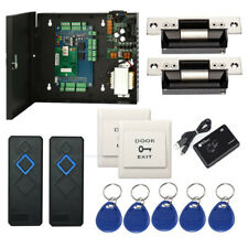 TCP/IP 2 Doors Access the Control Systems Kit with RFID Reader +USA Strike Lock