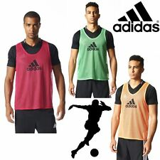 adidas Pro Football Training Bibs Orange Pink Green Breathable Mesh Sports Bib