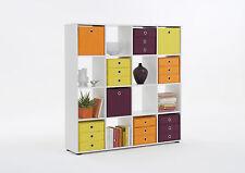 Raumteiler Mega 6, Weiß, Regal, Regalwürfel, Standregal, Bücherregal, 16 Fächer