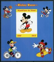 Chad 2018 MNH Mickey Mouse 1v IMPF M/S Disney Cartoons Animation Stamps