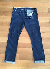 Wallace & Barnes Mens Raw Selvedge Denim Jeans 33 36 x 32 $298 Made in USA