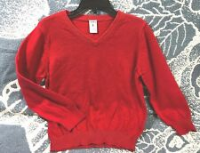 Carters Boys Sweater v neck pullover size 5 Red Cotton Blend long sleeve