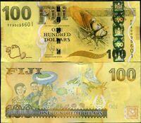 FIJI 100 DOLLARS ND 2013 P 119 UNC