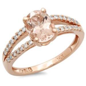 Certified 2.00cttw Morganite 0.30cttw Diamond 14KT Rose Gold Gold Ring