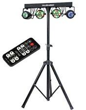 Complete Professional 4-Par Stage LEDs Lights DJ Band DMX System & Stand MU-L31D