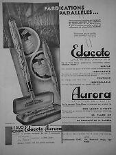 PUBLICITÉ 1931 STYLO LE DUO MODERNE EDACOTO AURORA PORTE-PLUME - ADVERTISING