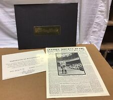 1993 Reprint Of The Sporting News Newspaper Aug 28, 1948 Babe Ruth Death + COA