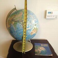 Vintage Rand Mcnally Raised Relief Globe In Original Box Dated 71 General Mills