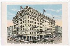 Whitcomb Hotel San Francisco California 1920s postcard