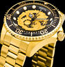 Invicta Men Pro Diver Dragon NH35A Automatic 18Kt Gold Black Dial Two Tone Watch