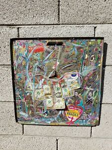 Abstract Money Art Contemporary art Neo Expressionism by NYC street artist PUKE