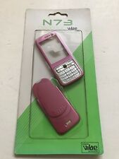 Nokia N73 - Full Fascia Housing Cover Front Back Case Keypad Replacement Pink
