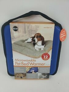 """KH Microwavable Dog Cat Pet Bed Warmer Heater up to 12 hrs Warmth 9"""" x 9"""""""
