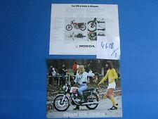 N°4618-1 /  HONDA CB 125 JX   prospectus en français janvier 1974