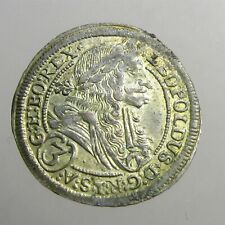 LEOPOLD I (HOGMOUTH) SILVER 3 KREUZER______Hapsburgs of Austria______DATED 1699