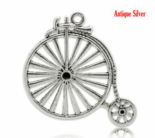 1 pcs PENNY FARTHING  Tibet silver Charms Pendants DIY Jewellery Making