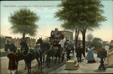 New York City Vanderbilt's Coach Stagecoach Claremont Hotel c1910 Postcard