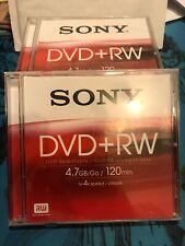 SONY DVD+RW Discs X6 Never Used - 120min ReWritable Disc DPW120A