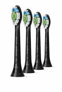 Phillips Sonicare Diamond Clean Toothbrush Heads x4 Black