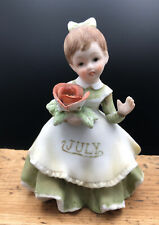 Collectible Vintage Ceramic July Birthday Girl Figurine by Lefton #Kw 4200