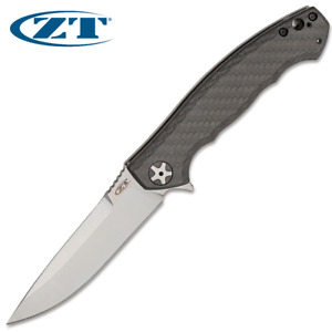 Zero Tolerance ZT 0452CF Large Sinkevich S35VN Blade Carbon Fiber and Titanium