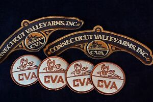 6 Black Power CVA Patches Excellent Unused Connecticut Valley Arms
