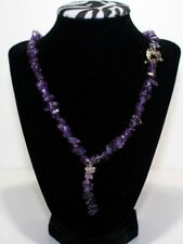 Woman's Amethyst Necklace with Owl Clip