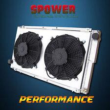 Aluminum Radiator + Fan Shroud For Subaru Impreza WRX GC GF Liberty BC BF EJ20