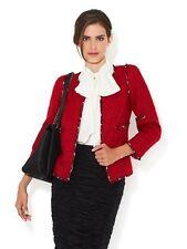 CHANEL 10A Fantasy Tweed Jacket Blazer Red 44 FR $4565