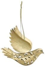 Gold Metal DOVE Ornament or Every Day Hanging 3D Ornament, Not Flat
