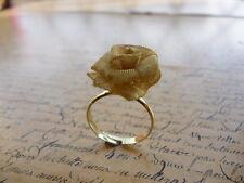 Gold Valentines Rose Petal Flower Jewellery Adjustable Ring + Gift Bag