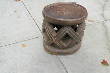 "Arts of Africa - Old  Bamileke Stool - Cameroon - 13"" Height x 13.5"" Wide"